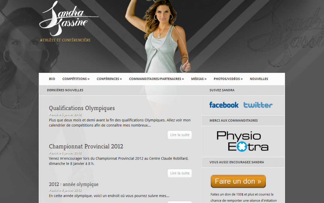 Site web de Sandra Sassine