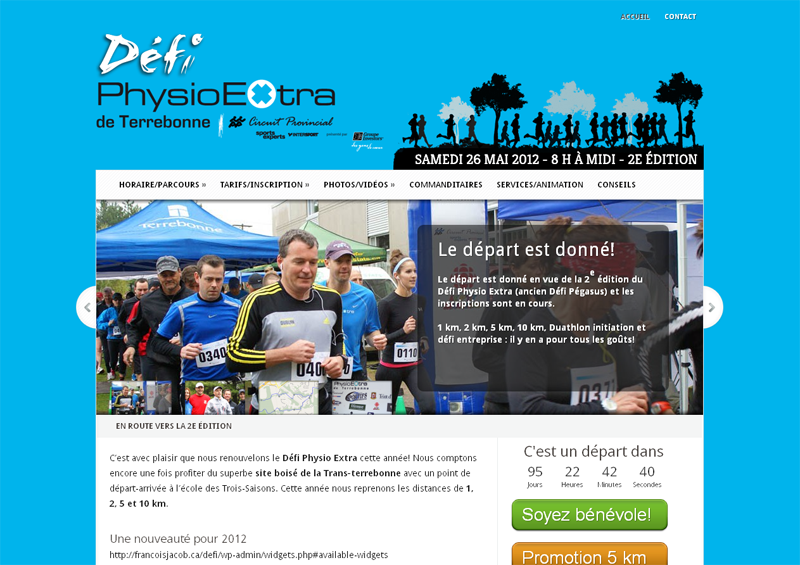 Site web du Défi PhysioExtra
