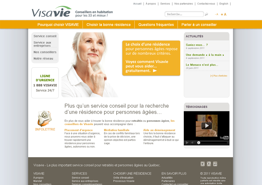 Site web de Visavie